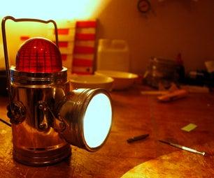 1960's Camping Lantern Mains Plug Hack