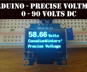 Arduino Precise & Accurate Volt Meter (0-90V DC)