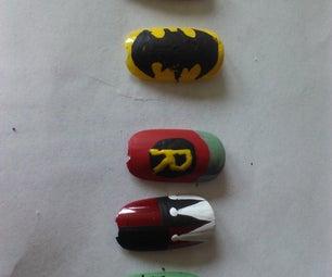 How to Create Batman Nail Art