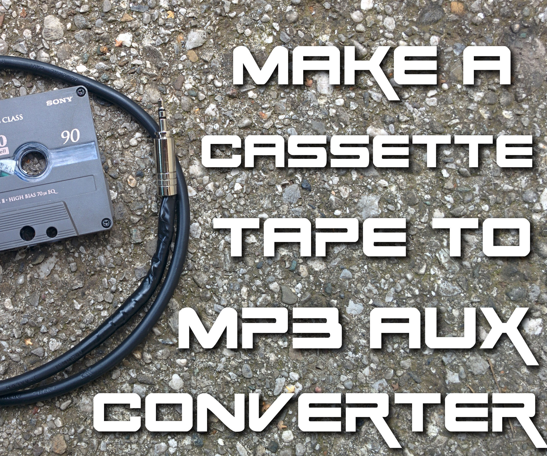 DIY cassette tape to MP3 aux converter