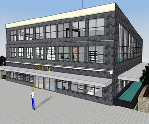Design of Gym Center (made in Autodesk FormIt)