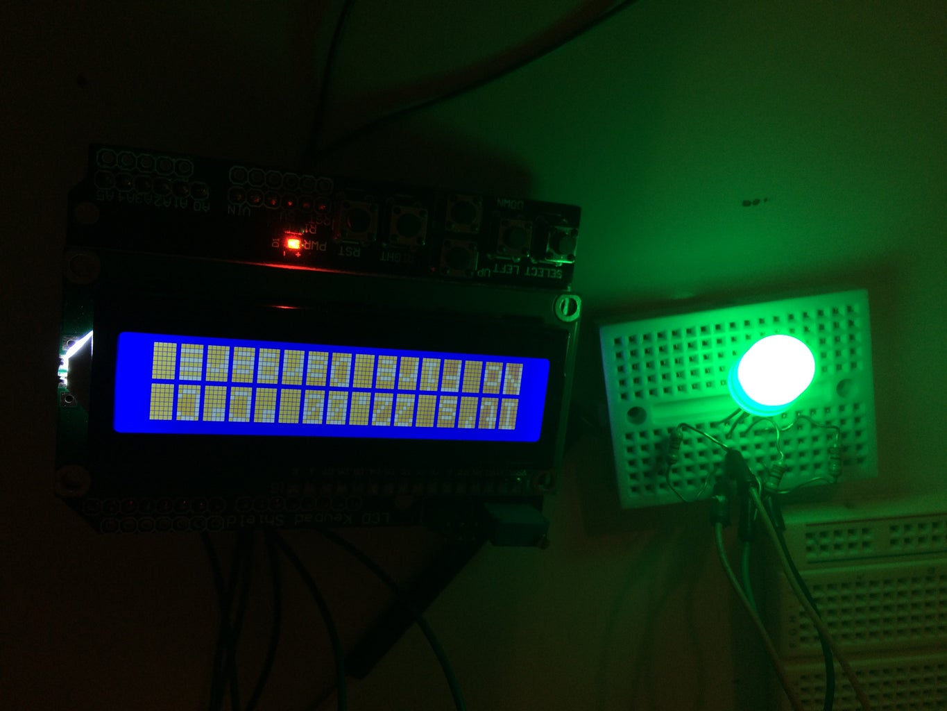 Arduino LCD Fire Safety Warning System