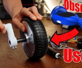 Hoverboard Motor Becomes a Hand-cranked Generator!