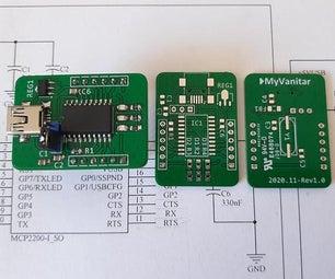 USB to UART (RS232/Serial) Converter, MCP2200