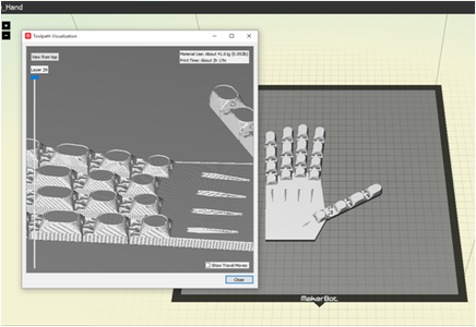 Hand Printing & Rubber Attachment