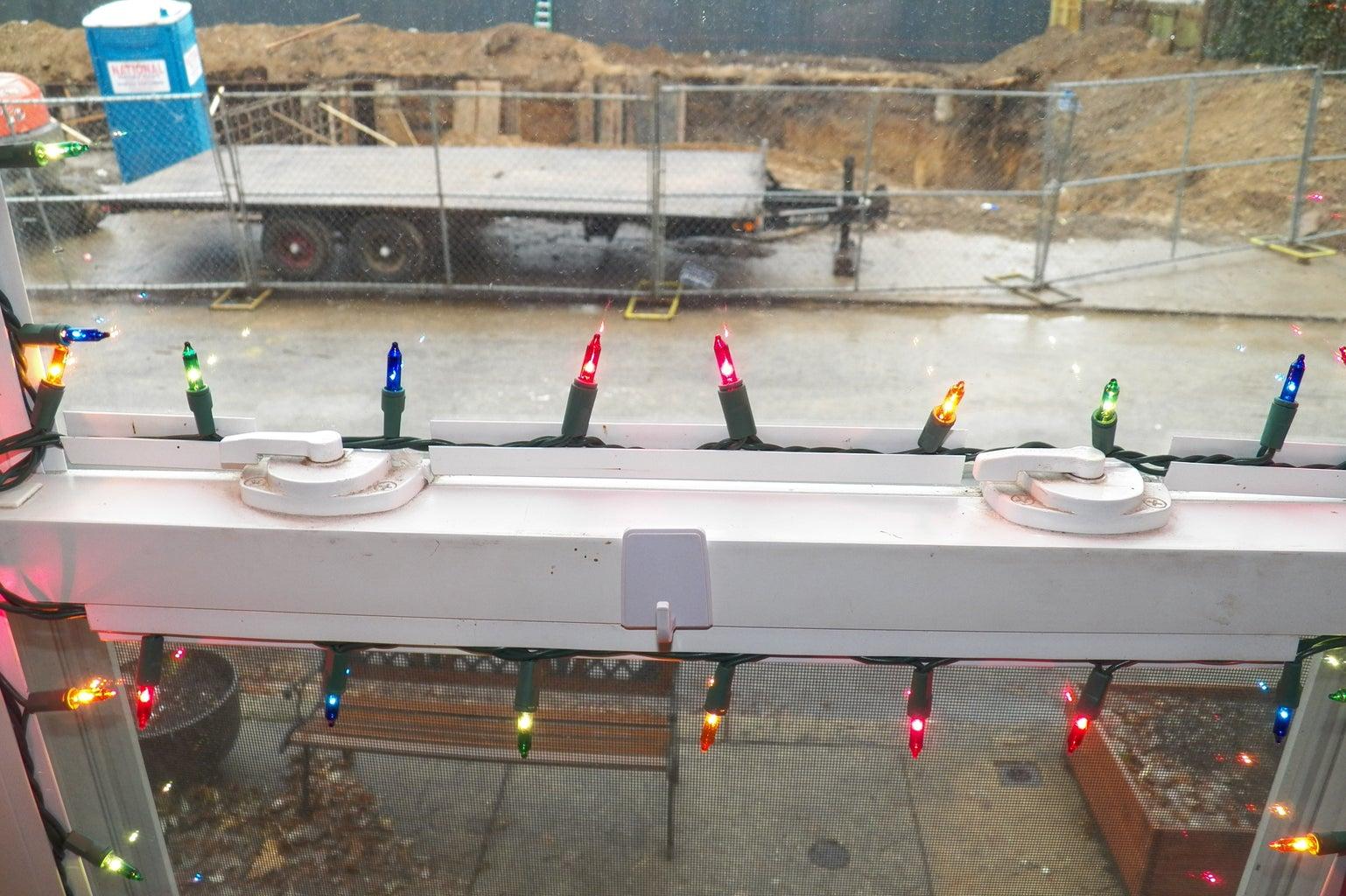 Christmas Light Installation for Vinyl Windows