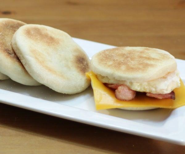 Homemade English Muffins - Breakfast Sandwich