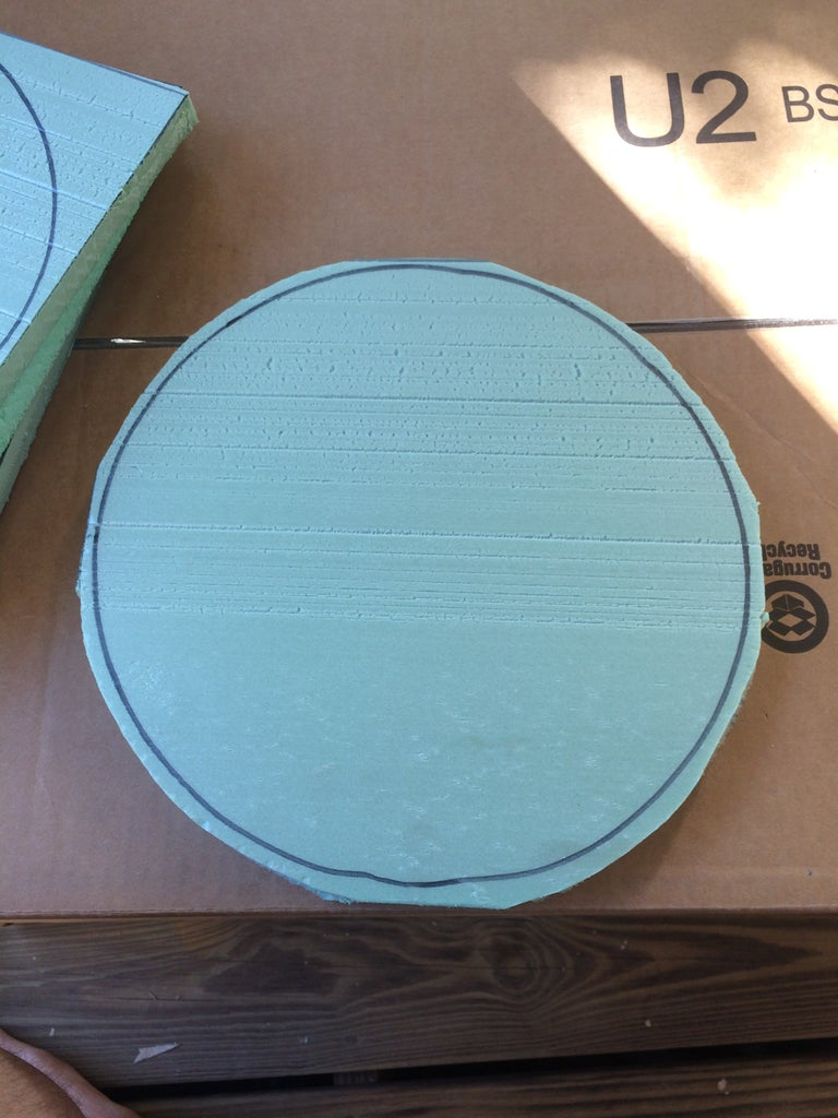 Cut the OUTSIDE THE LINES to Remove the Corners and Make Circles.