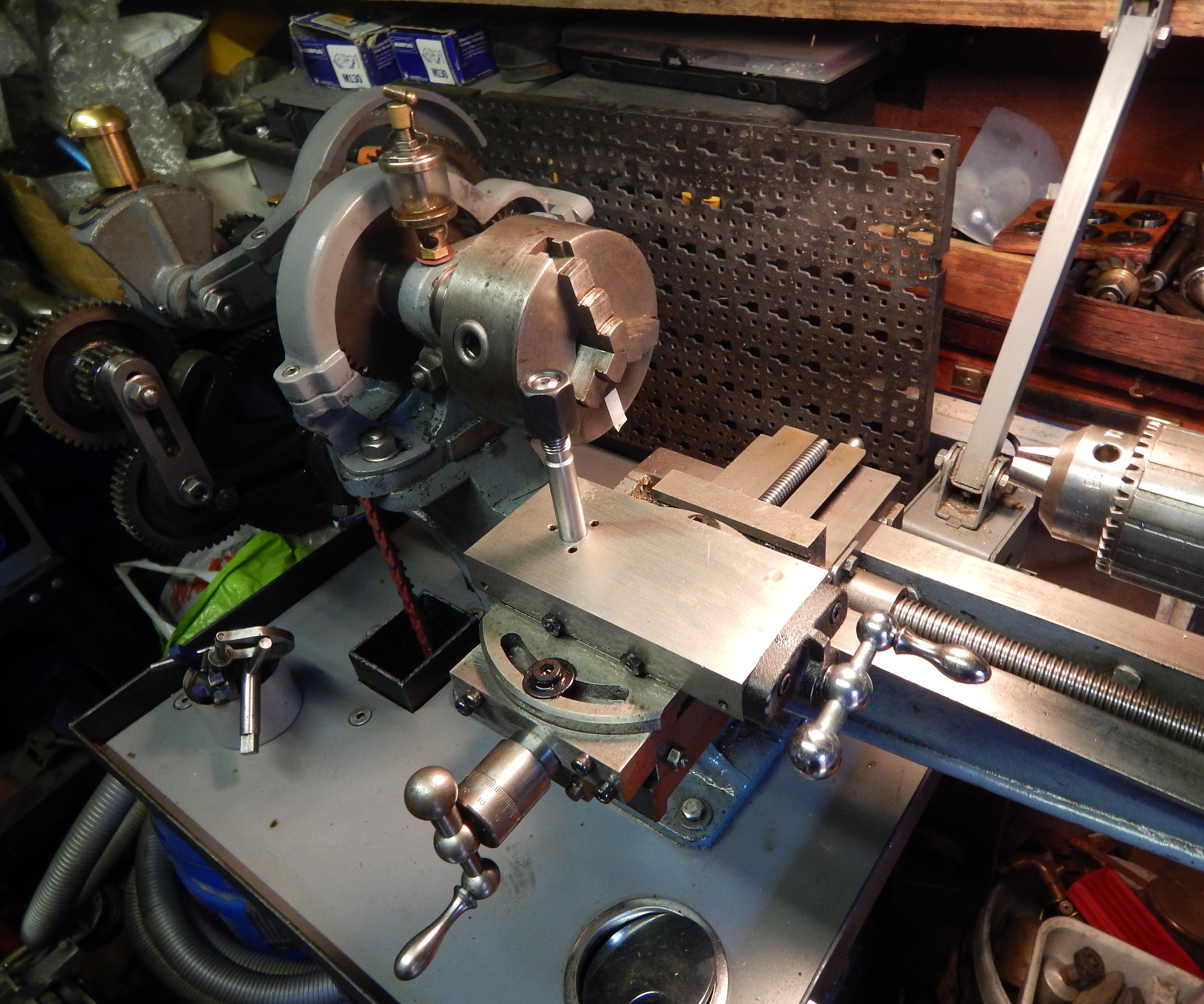 Converting Myford Cross Slide to a Drummond Lathe.