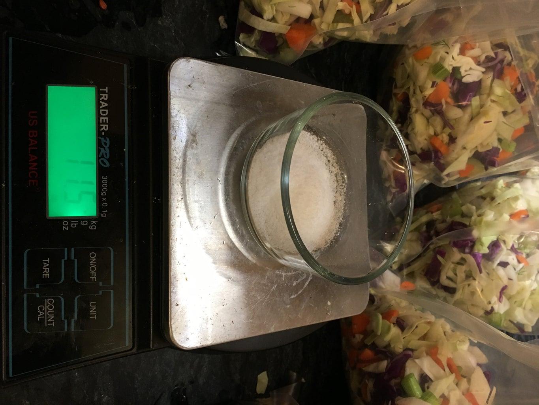 Weigh and Add Salt