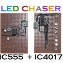 LED CHASER With IC555 and IC4017