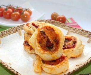 Tomato-Puff Pastry Pinwheels