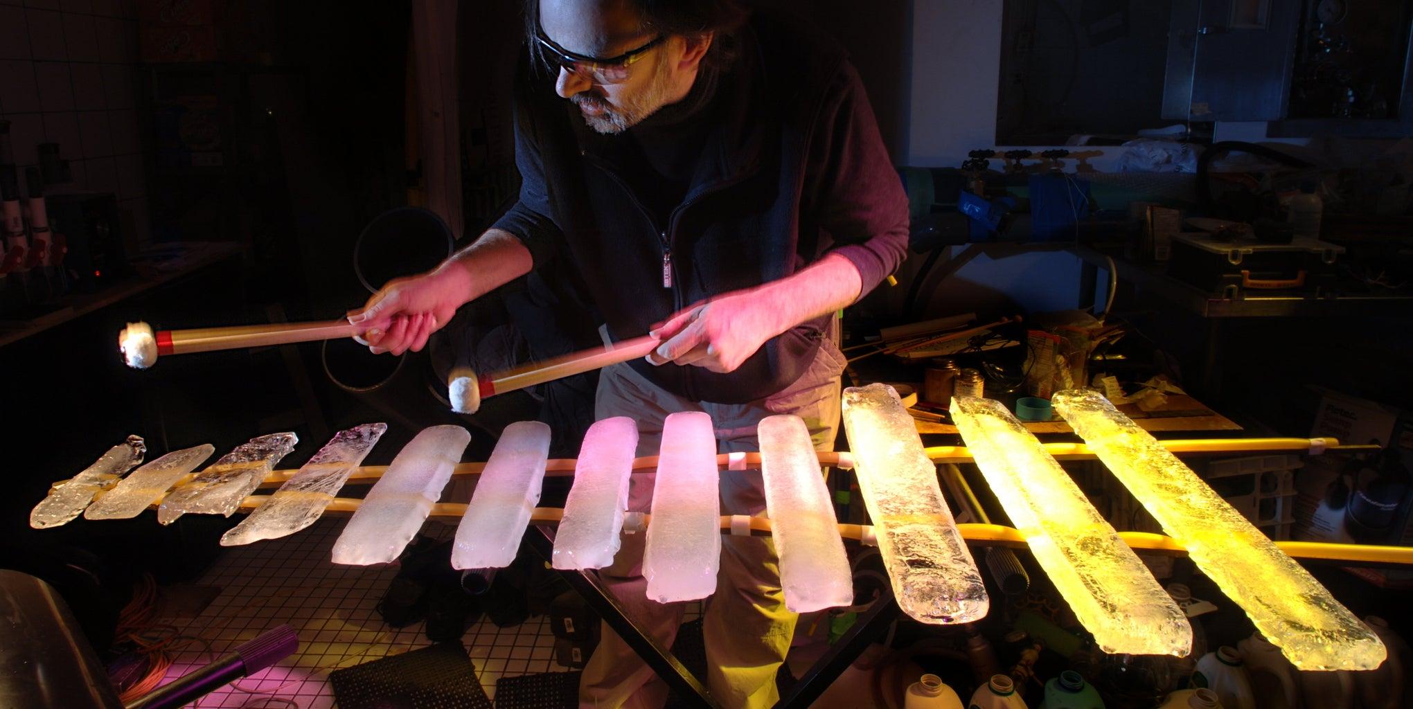 Pagophone (like Xylophone But Ice Instead of Wood)