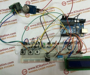 Human Body Infrared Smoke Temperature Alarm System With Arduino