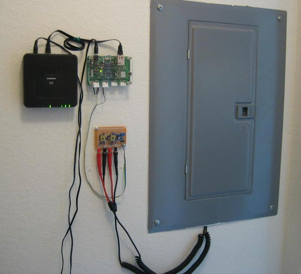 Real-time Web Based Household Power Usage Monitor