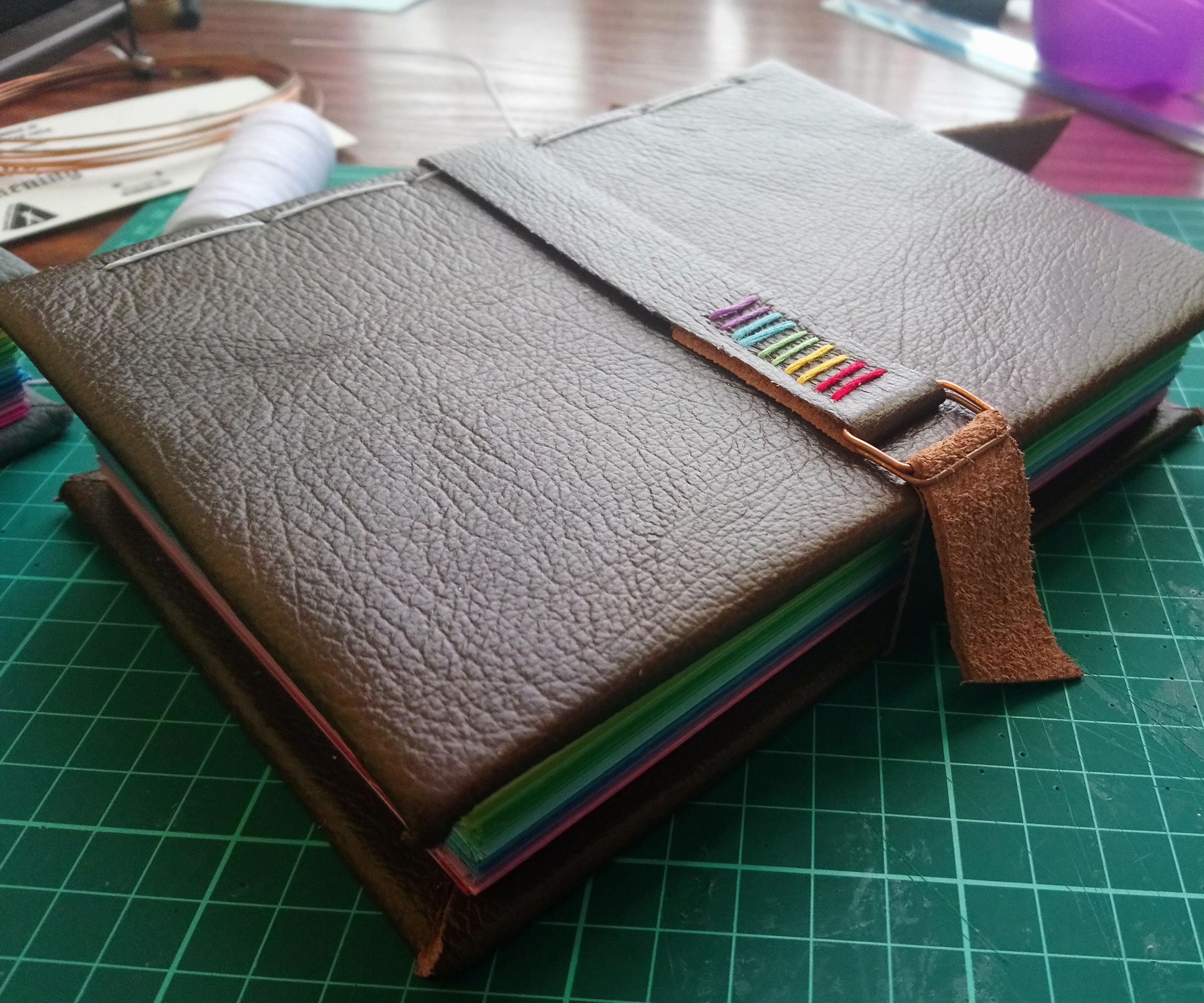 Rainbow Leather Bound Notebook