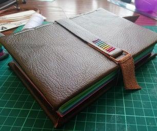 彩虹皮革绑定笔记本