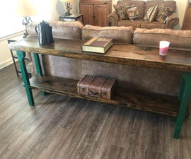 How to Build a Sofa Table