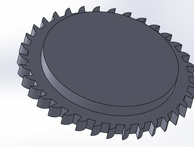 """Sketch a Circle With Diameter 106mm on the Front Face of the Gear and Use """"Boss Extrude"""" to Extrude It 10mm"""