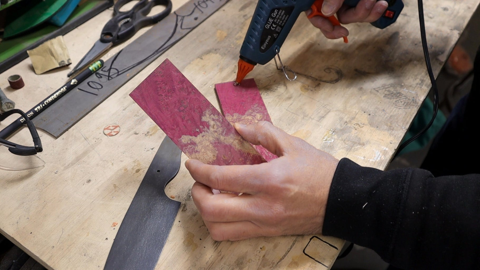 """Prepping the Handles (or """"scales"""" for the Knife Nerds)"""