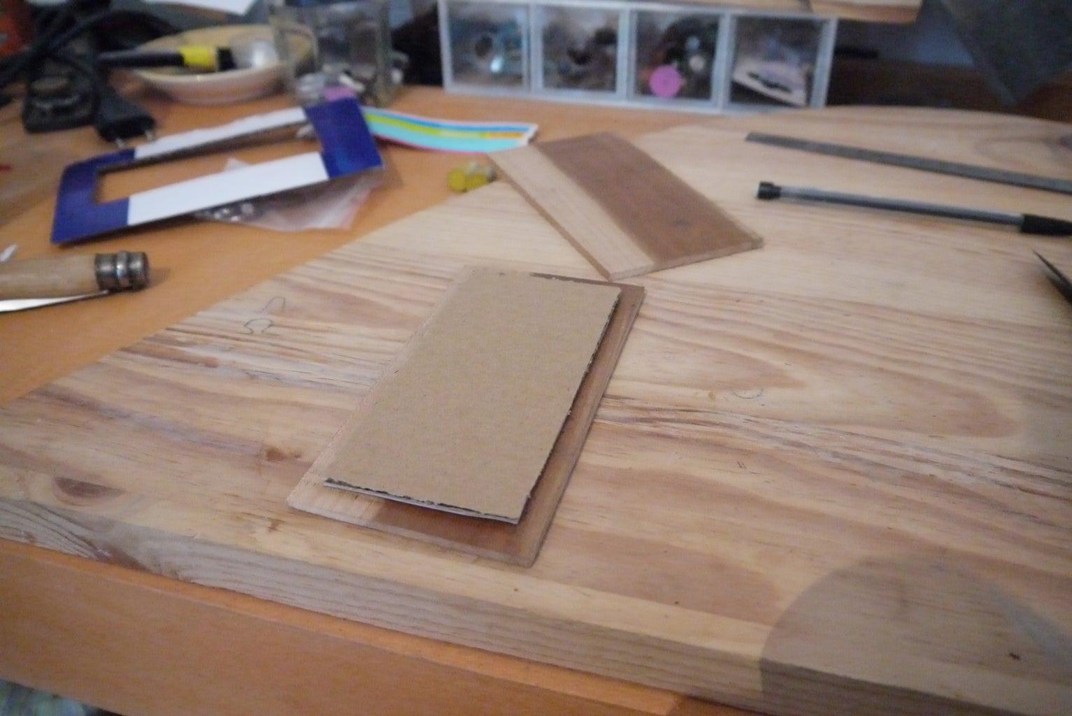 Cut Out the Rough Shape, Glue.