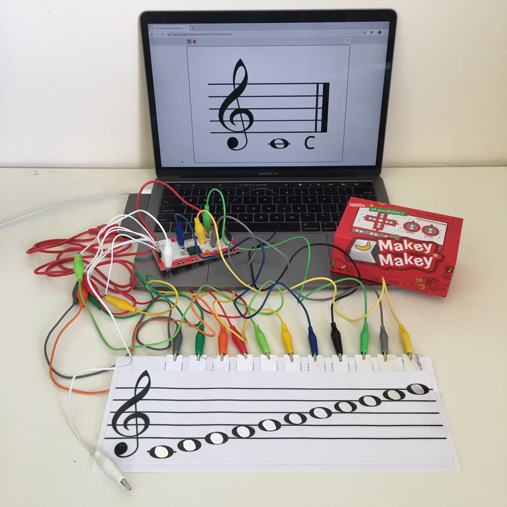 Interactive Aural Music Notation With Makey Makey
