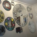 Upcycled Mirror With Clock