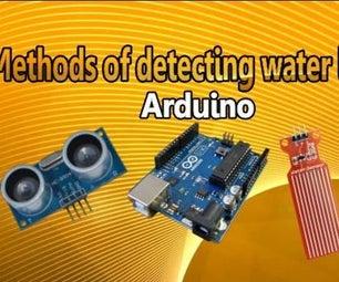 Methods of Detecting Water Level Arduino Using Ultrasonic Sensor and Funduino Water Sensor