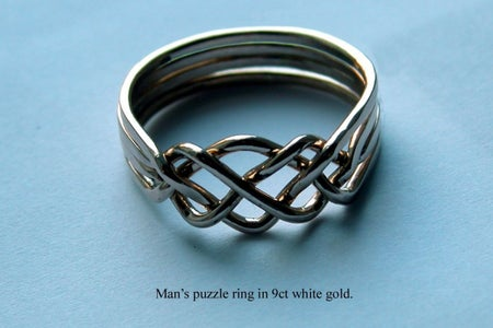 Inexpensive Homemade 4 Band Puzzle Ring
