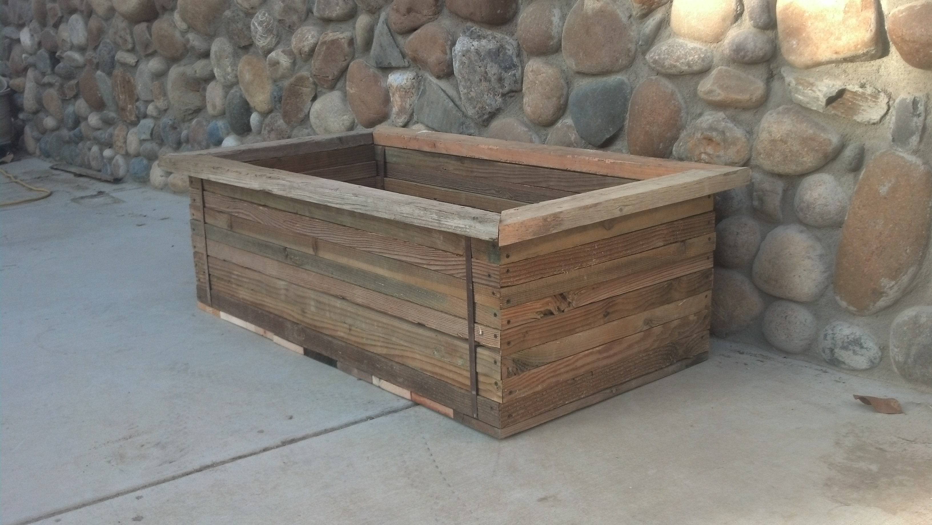 Rustic Western Reclaimed Wood Planter