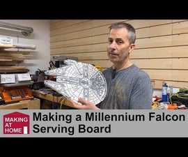Millennium Falcon Serving Board From Left Over Countertop Material