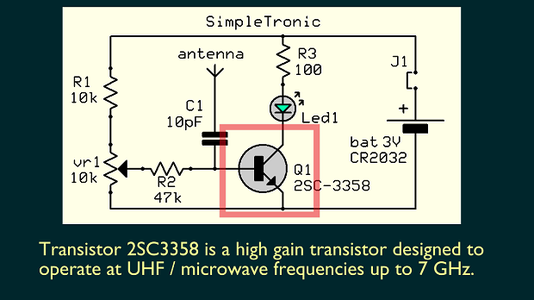 2SC3358 Is a High Gain - High Frequency Transistor (up to 7 GHz)