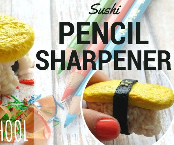 DIY Sushi Pencil Sharpener-Weird School Supplies Polymer Clay Tutorial-I MISS JAPAN