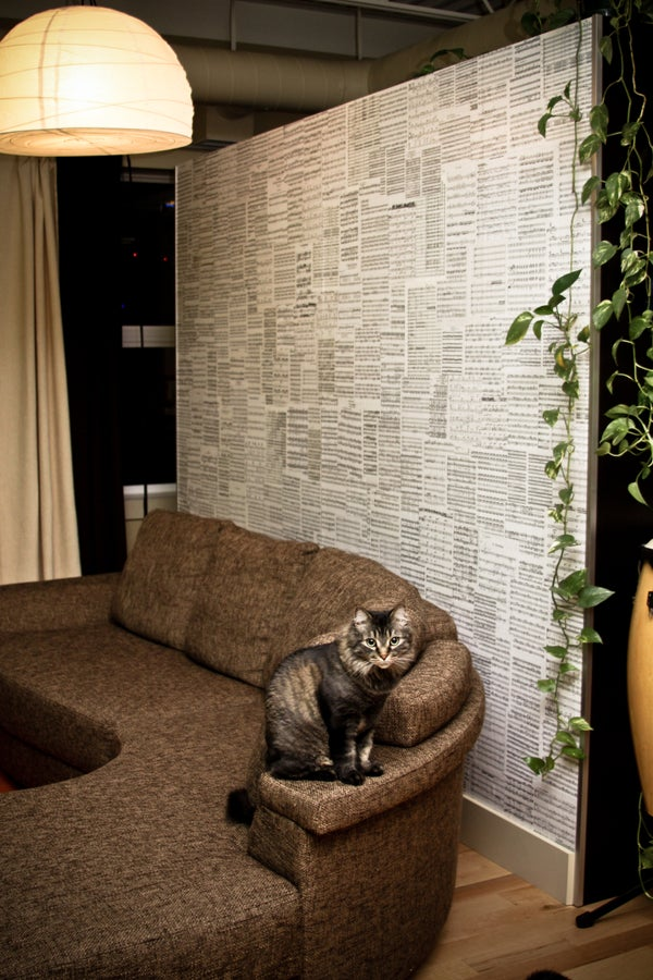 Sheet Music Decoupaged Pax Room Divider