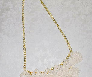 Lace and Chain Necklace