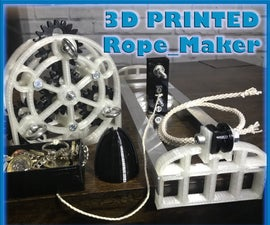 3D Printed Rope Maker