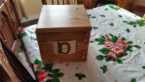 Wooden 6 Wheel Combination Lock Box