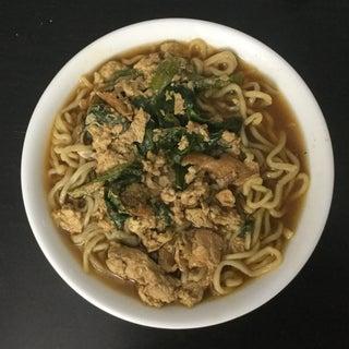 Mie Tek-tek (Indonesian Javanese Street Vendor Noodle Soup) With Homemade Noodle