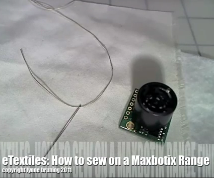 ETextiles: How to Sew a Matbotix Range FInder to Fabric
