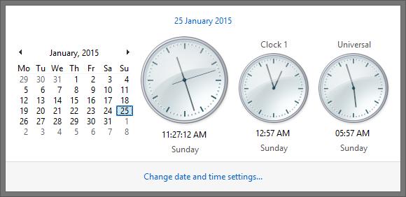 Adding Additional Clocks in Windows