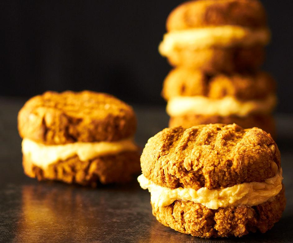 Gluten Free Peanut Pumpkin Spice Yo-Yo Cookies