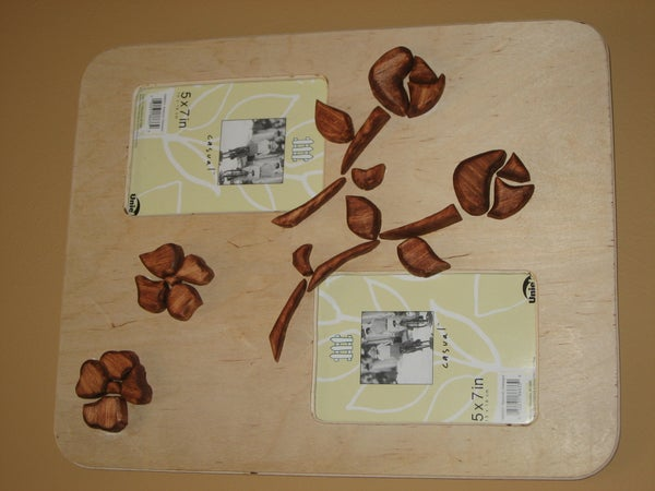 Simple Wooden Rose Picture Frame