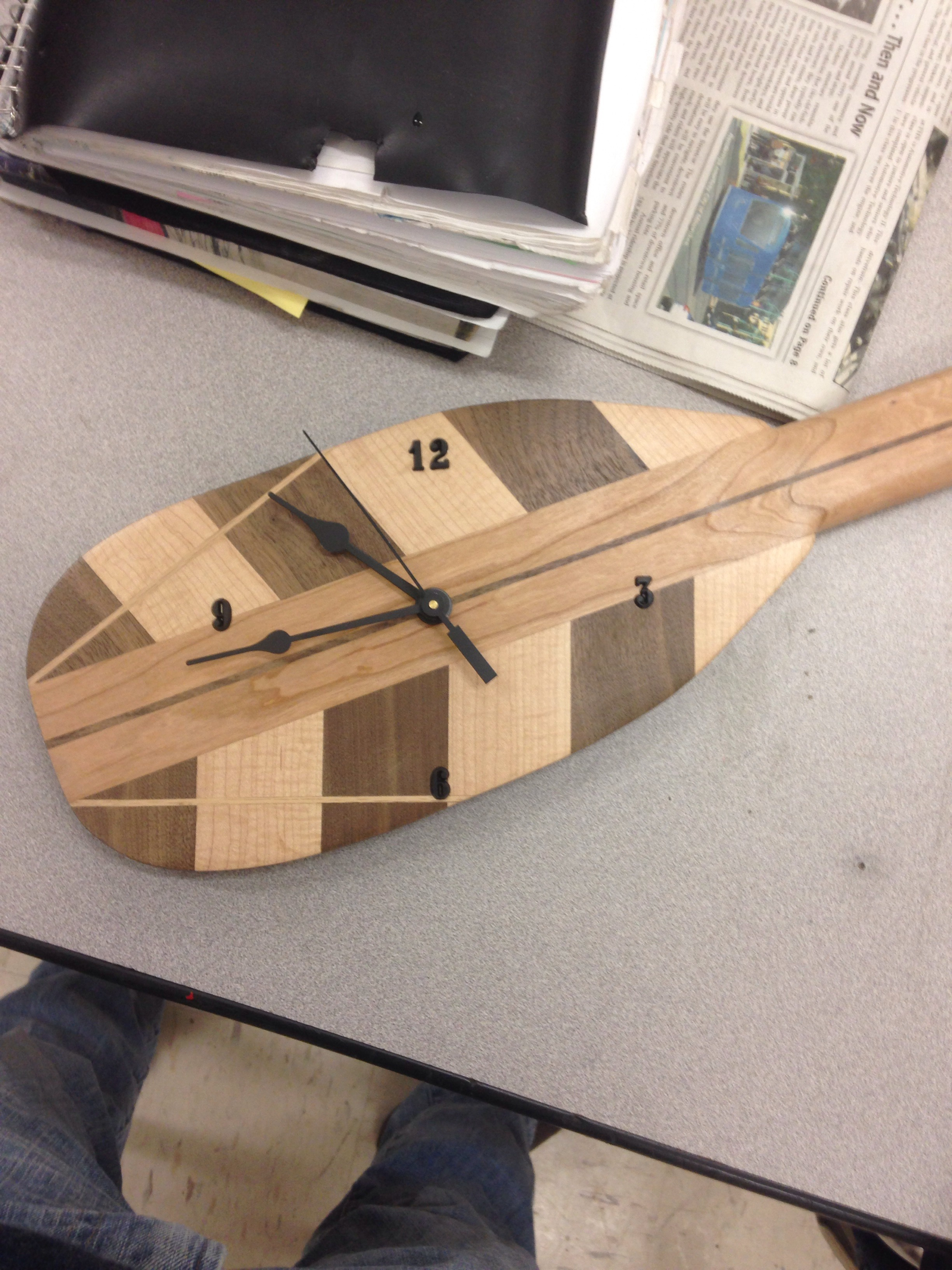 Canoe Paddle Clock