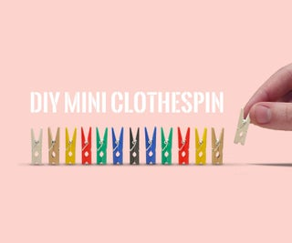 DIY Mini Clothespin