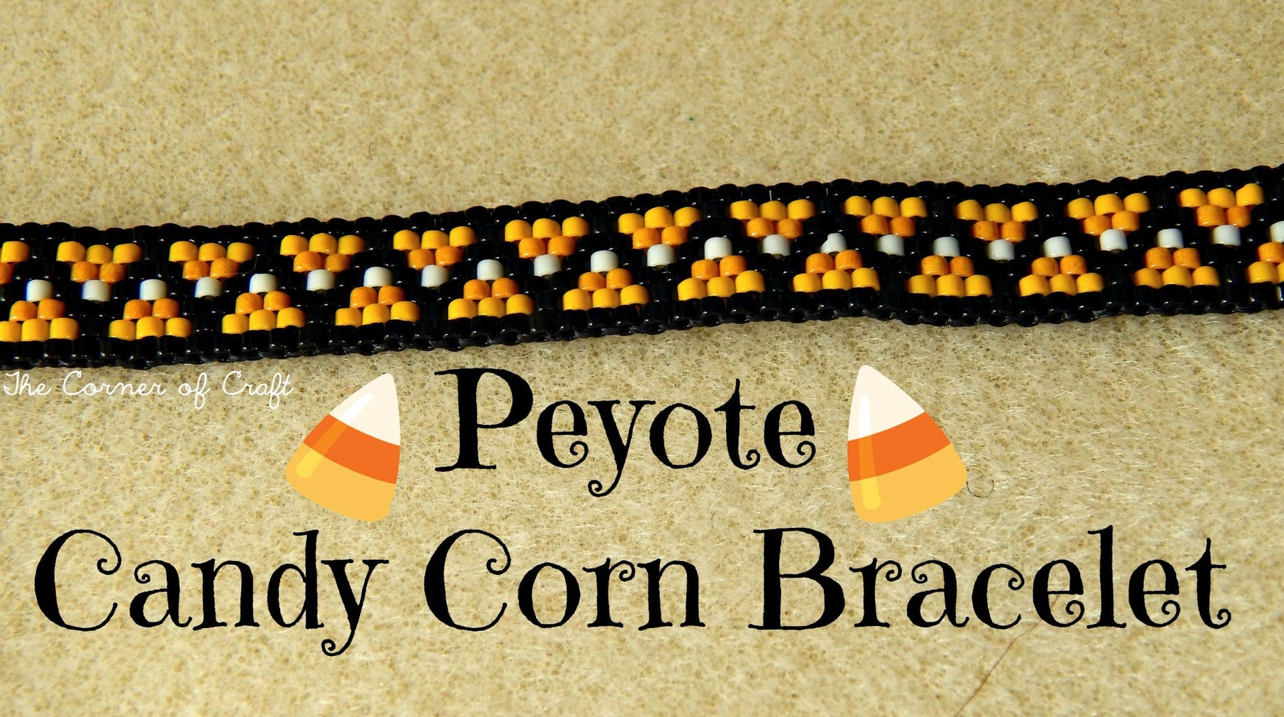 Candy Corn Beaded Bracelet ¦ the Corner of Craft