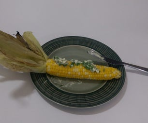 Grilled Corn on the Cob With Cilantro Lime Butter