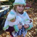 Girls Poncho Set with Toys