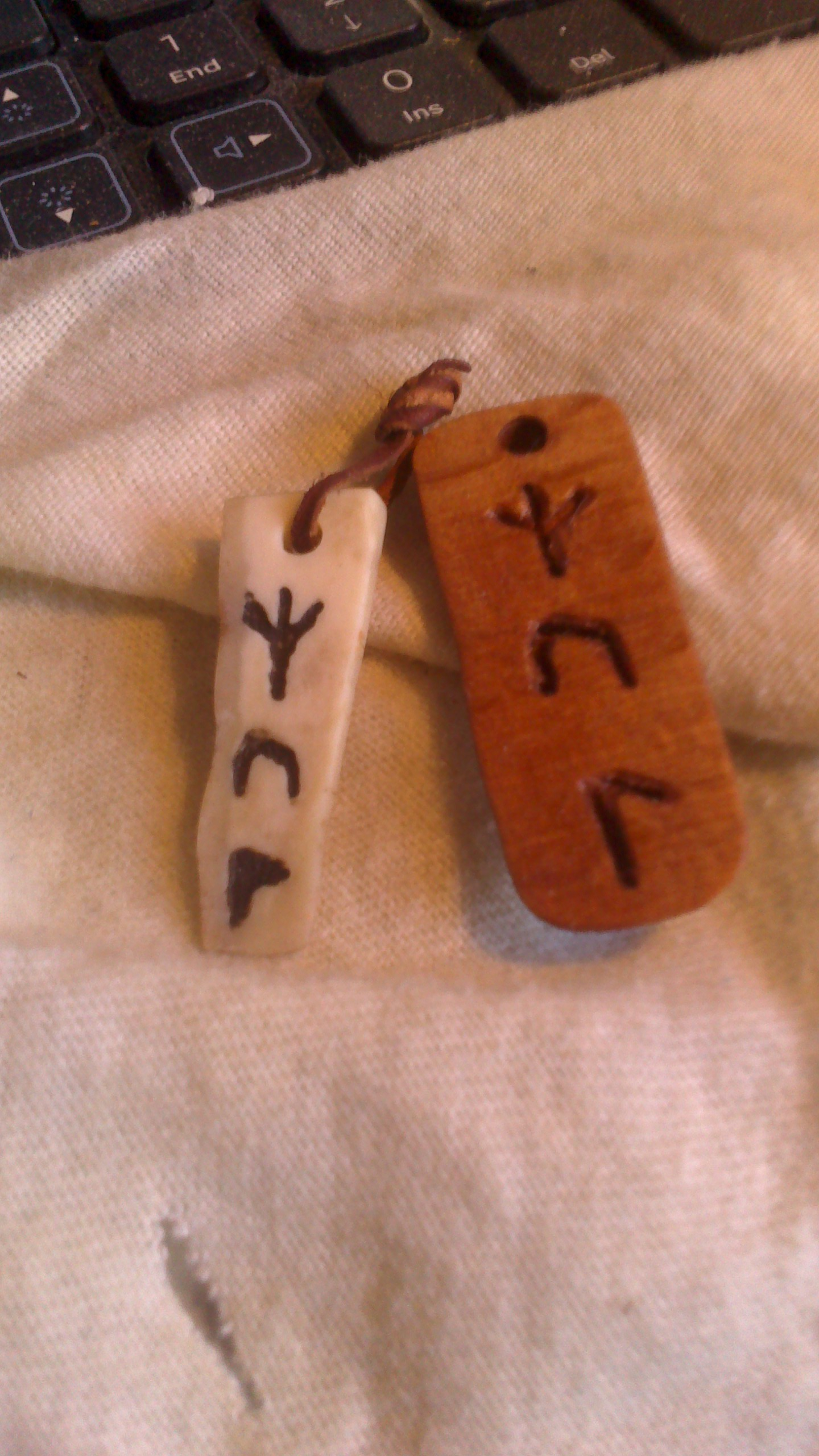 Norse rune charms