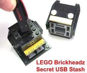 LEGO BRICKHEADZ Secret Stash (for USB, Keys, Etc.)