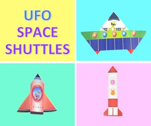 Paper Craft for Kids: UFO & Space Shuttles